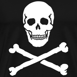 Skull and Crossbones / Jolly Roger, T-Shirt - Men's Premium T-Shirt