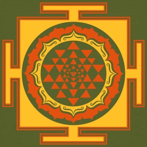 Shri Chakra Yantra -  cosmic conductor of energy T-Shirts - Men's Organic T-shirt