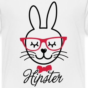 Love cute hipsta hipster easter bunny rabbit face Shirts - Teenage Premium T-Shirt