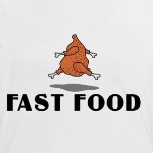 T-Shirt Damen fast food 2 - Frauen Kontrast-T-Shirt