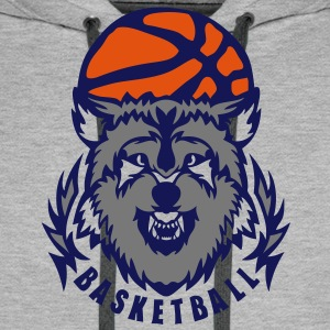 basketball loup logo club wolf ballon Sweat-shirts - Sweat-shirt à capuche Premium pour hommes