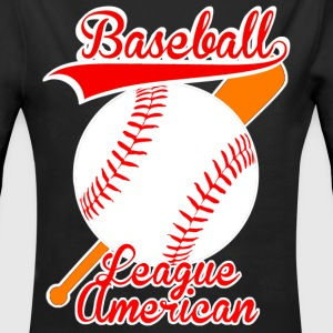 baseball league american Sweats - Body bébé bio manches longues