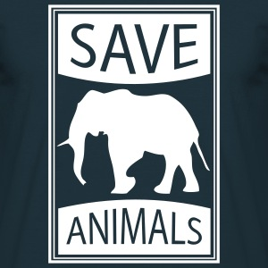 save_animals T-Shirts - Männer T-Shirt