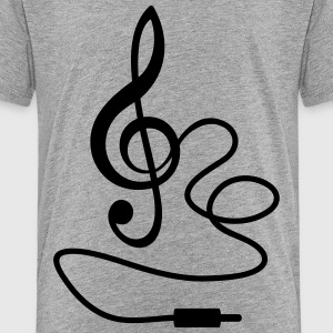 Instant Music * Treble Clef cable RCA plugs Shirts - Teenage Premium T-Shirt