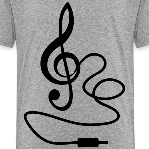Instant Music * Treble Clef kabel RCA-stik T-shirts - Teenager premium T-shirt