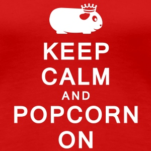 'Keep Calm & Popcorn On' Ladies T-Shirt - Women's Premium T-Shirt