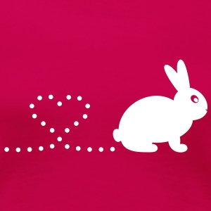 'Pooping Heart Rabbit' Ladies T-Shirt - Women's Premium T-Shirt
