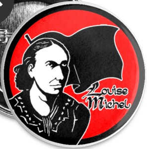 Louise Michel red - Badge petit 25 mm