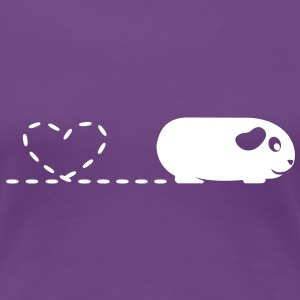 'Pooping Heart' Guinea Pig Ladies T-Shirt - Women's Premium T-Shirt