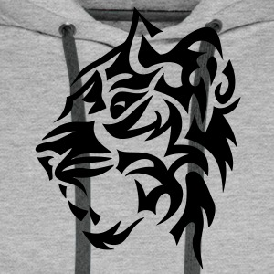 tigre tribal tiger tatoo 4022 Sweat-shirts - Sweat-shirt à capuche Premium pour hommes