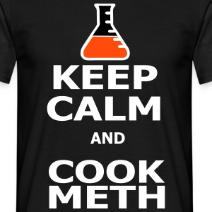 Keep Calm and Cook Meth T-skjorter - T-skjorte for menn