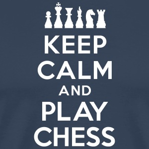 Keep calm and play Chess Tee shirts - T-shirt Premium Homme