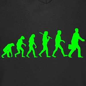 Evolution Of The Businessmen T-Shirts - Men's V-Neck T-Shirt