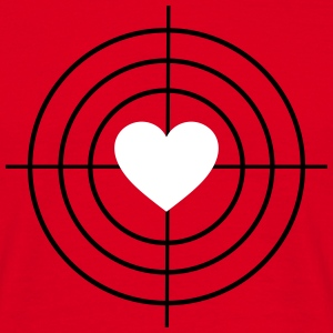 Heart is Target T-Shirts - Männer T-Shirt