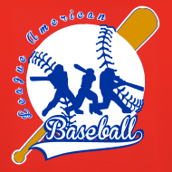 Motif ~ Pull à capuche enfant baseball league american