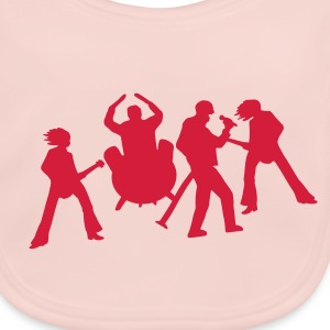 Rose Rock Band Music Concert Tour Accessories - Baby Organic Bib