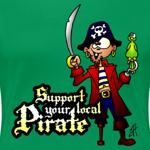 Support your local Pirate T-shirts - Vrouwen Premium T-shirt