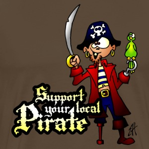 Support your local Pirate Tee shirts - T-shirt Premium Homme