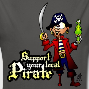 Support your local Pirate Pullover & Hoodies - Baby Bio-Langarm-Body
