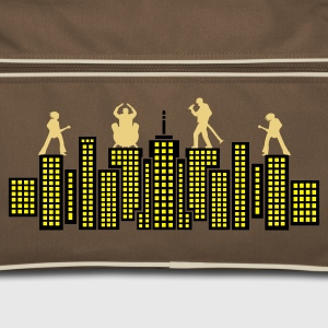 Brown / sand Rock Skyline Music Concert Tour Bags  - Retro Bag