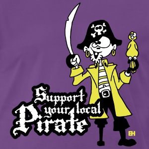 Support your local Pirate T-Shirts - Men's Premium T-Shirt