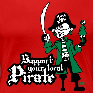 Support your local Pirate T-shirts - Dame premium T-shirt