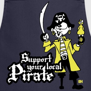 Support your local Pirate Delantales - Delantal de cocina