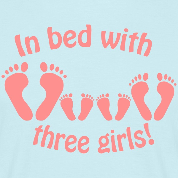 Sky In bed with three girls - Im Bett mit drei Mädchen T-Shirts T-Shirts - Men's T-Shirt