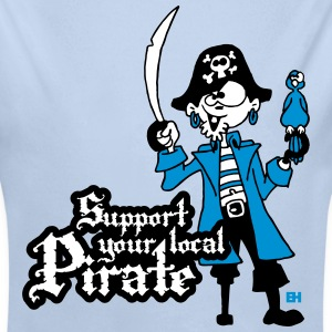 Support your local Pirate Hoodies - Longlseeve Baby Bodysuit