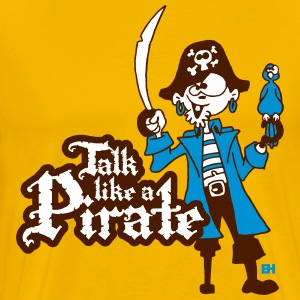 Talk like a Pirate T-shirts - Herre premium T-shirt