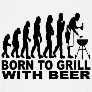born to grill with beer T-Shirts - Männer T-Shirt