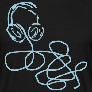 headphone T-Shirts - Männer T-Shirt