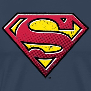 Superman S-Shield Used Look 2 Mannen T-Shirt - Mannen Premium T-shirt