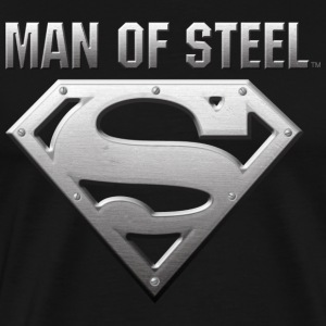 Superman S-Shield Steel Look T-shirt herr - Premium-T-shirt herr