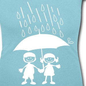 Couple on a rainy day Women's Scoop Neck T-Shirt - Women's Scoop Neck T-Shirt