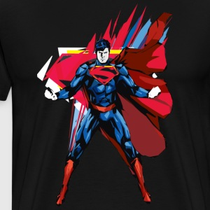 Superman Power Pose Männer T-Shirt - Männer Premium T-Shirt