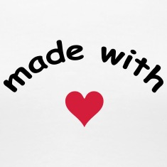 made with heart herz love  T-shirts