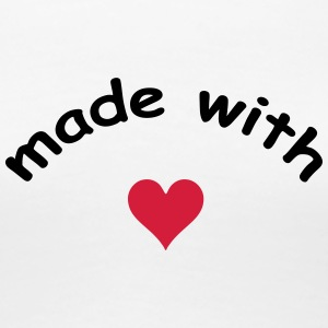 made with heart herz love  T-Shirts - Women's Premium T-Shirt