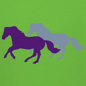 Two galloping horses - you can change all colours Sweatshirts - Premium hættetrøje til børn