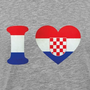 Croatia I Love Flag T-Shirts - Men's Premium T-Shirt