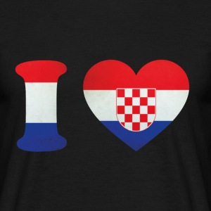 Croatia I Love Flag T-Shirts - Men's T-Shirt