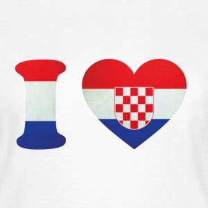 Croatia I Love Flag T-shirts - Vrouwen T-shirt