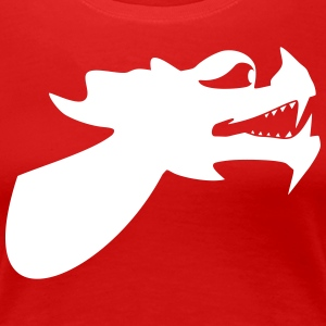 Dragon Head Dragon Boat Kano 1c T-shirts - Dame premium T-shirt