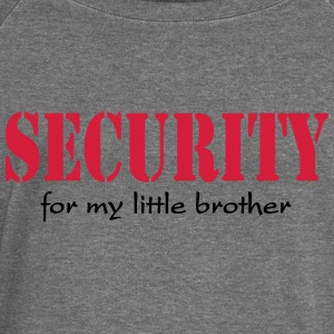 Security for my little Brother Hoodies & Sweatshirts - Women's Boat Neck Long Sleeve Top
