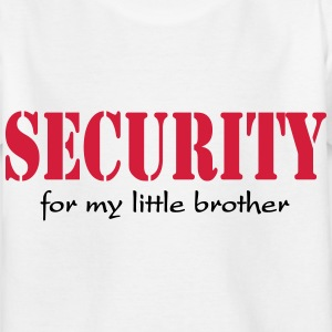 Security for my little Brother Magliette - Maglietta per bambini