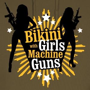 bikini girl with machine gun defends liberty
