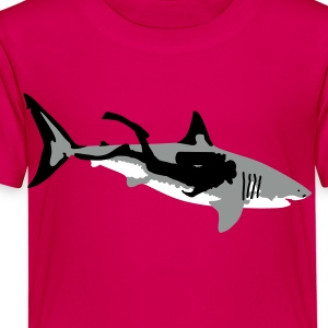 shark + diver Skjorter - Premium T-skjorte for barn
