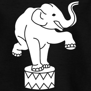 Zoo Zirkus Elefanten Circus Elephants Retro Comic T-Shirts - Kinder T-Shirt