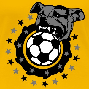 foot soccer chien pitbull dog logo club Tee shirts - T-shirt Premium Femme