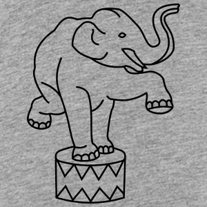 Zoo Zirkus Elefanten Circus Elephants Retro Comic T-Shirts - Teenager Premium T-Shirt